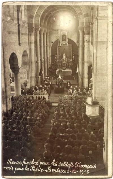 site le1 Déc 1918 service funèbre