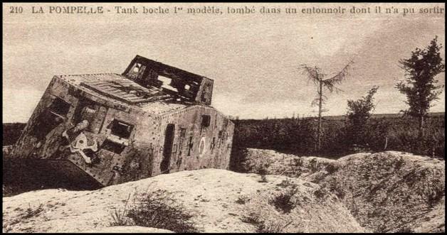 site tank allemand A7V sturmpanzerwagen