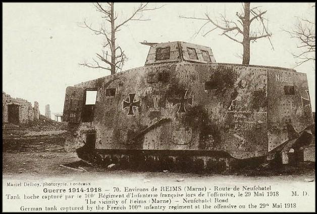 site tank allemand près de reims