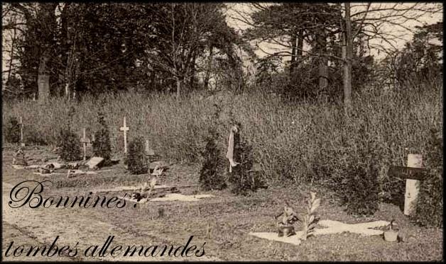 site boninnes tombes de soldats allemands