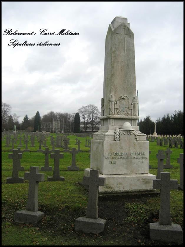 site robermont tombes de soldats italiennes