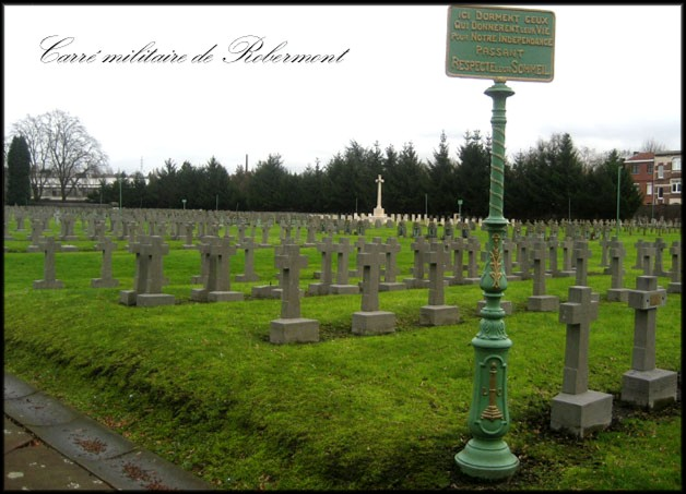 site sépultures du carré militaire de robermont