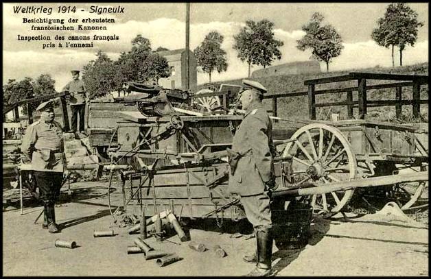 site  signeulx 1914  inspection allemande de canons français
