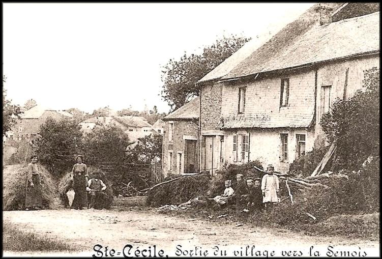 site ste cécile 1913 sortie village vers semois