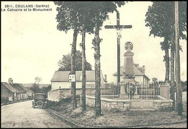 site coulans monument aux morts et calvaire