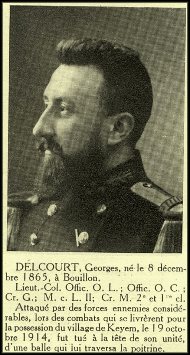 site LT-COL DELCOURT Georges de BOUILLON Keyem 19 oct 1914 13è lig