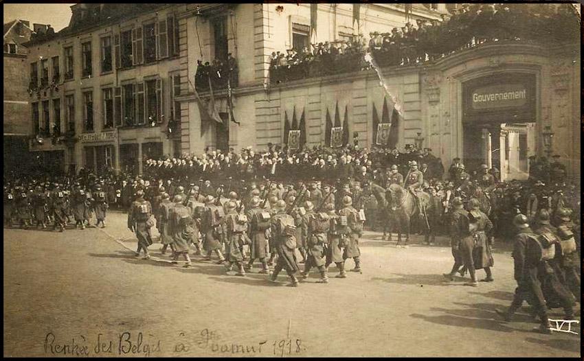 site so be rentrée des belges namur 1918