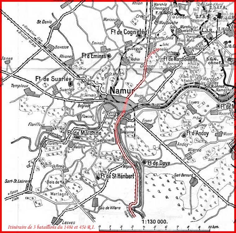 itinéraire 3 bataillons 148è et 456è