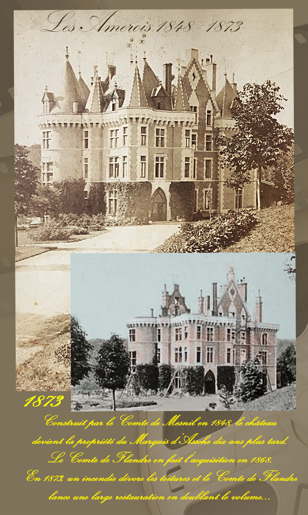 le chateau avt restauration 1873