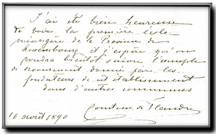 site so be comtesse flandre registre des pv 16 août 1890  florenville école