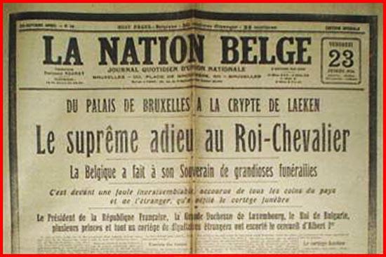 site so la nation belge adieu au roi