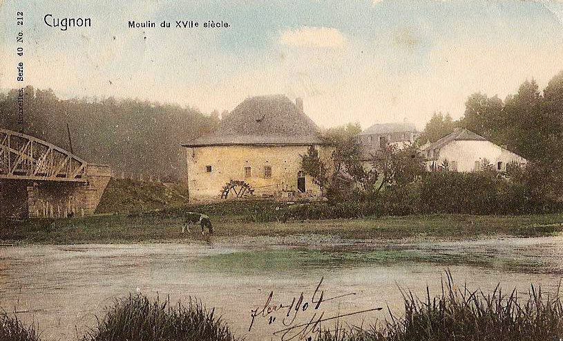 site to be cugnon pont et moulin 1904
