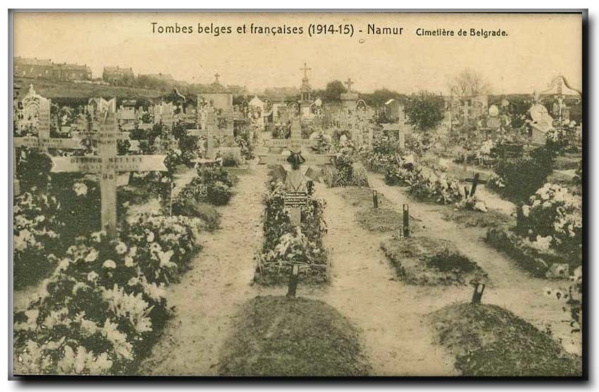 site so be belgrade tombes belges et francaises 1915