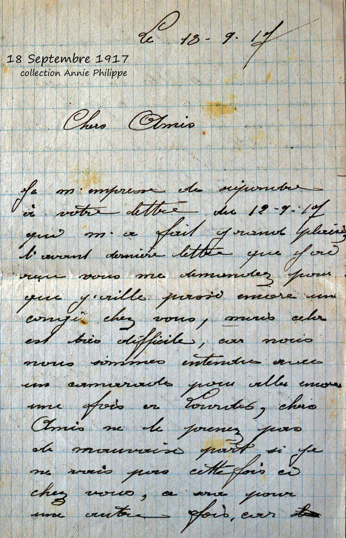 1917 09 18 page 1 decide d'aller à Lourdes
