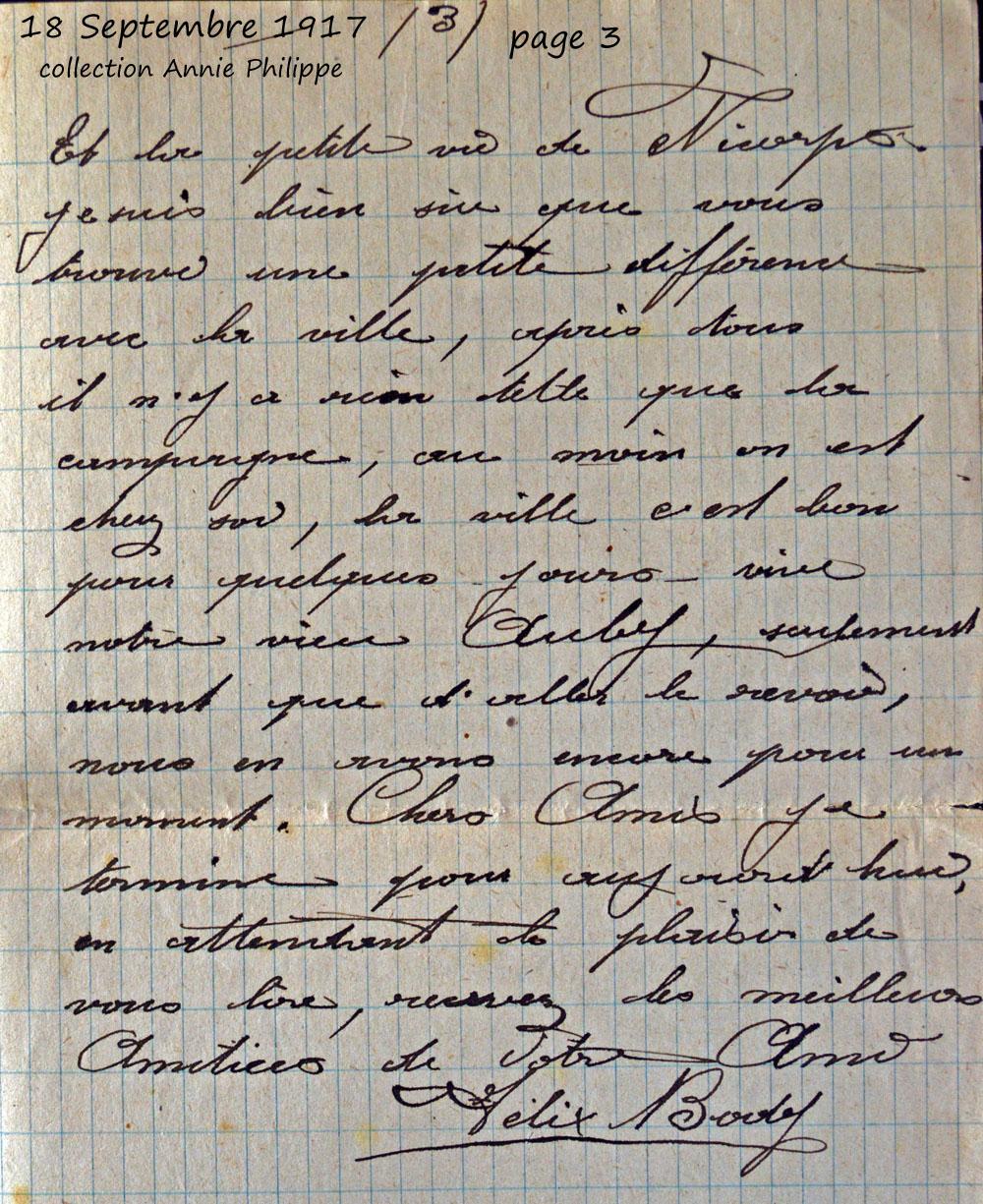 1917 09 18 page 3 bis decide d'aller à Lourdes