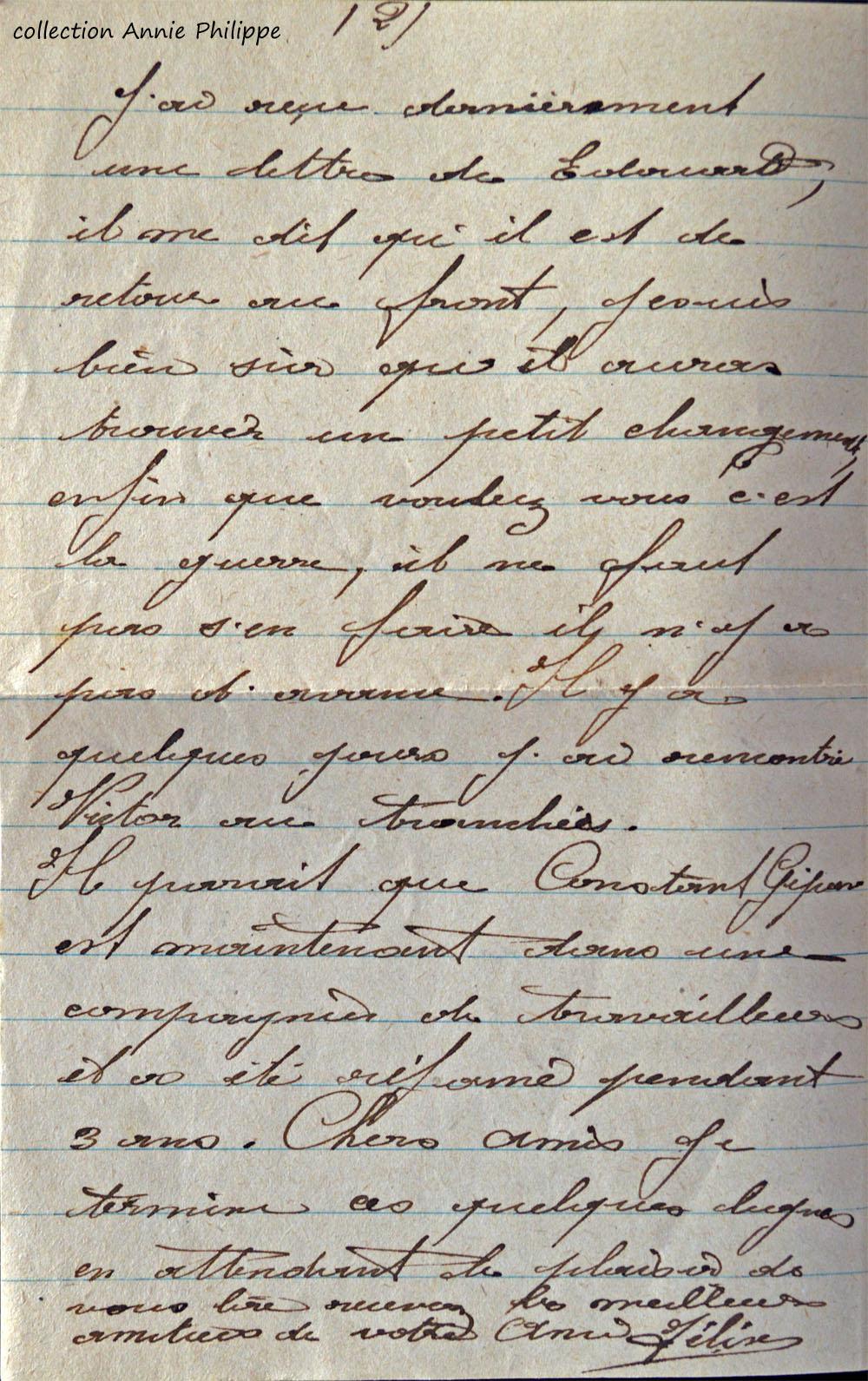 1918 04 29 lettre de félix à ses amis page 2