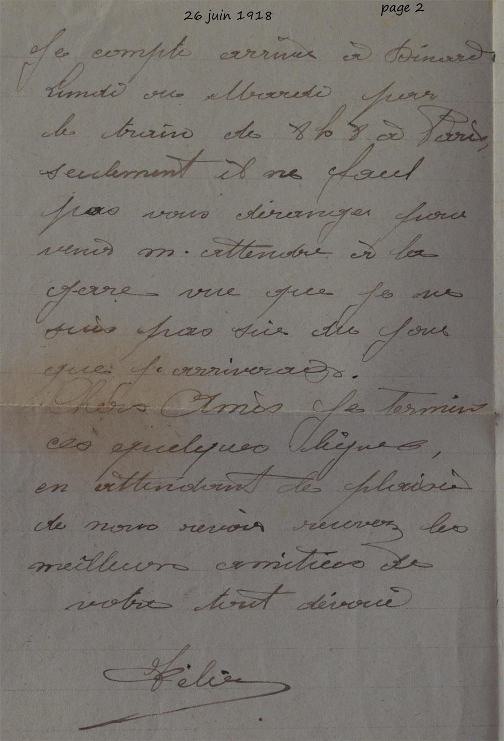 1918 06 26 felix ecrit a ses amis page 2 modif