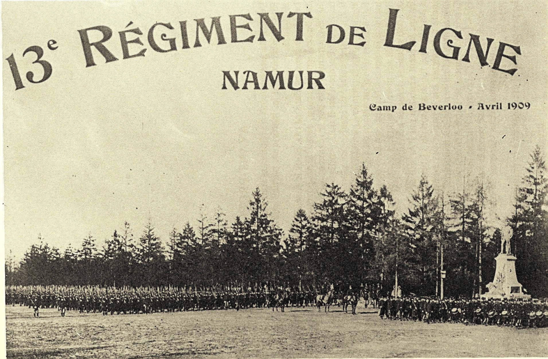 camp de beverlo en 1909