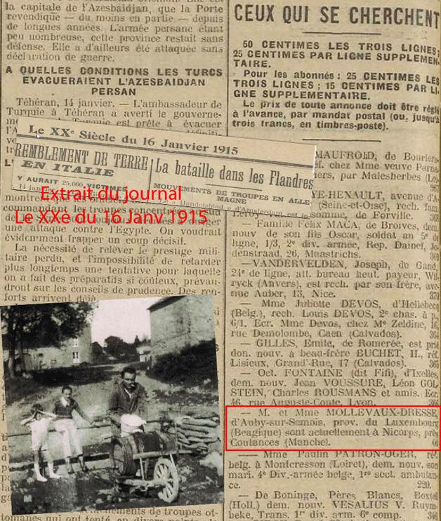 lenov extrait jouranl le XXèsiec janv 1915 nollevaux with picture