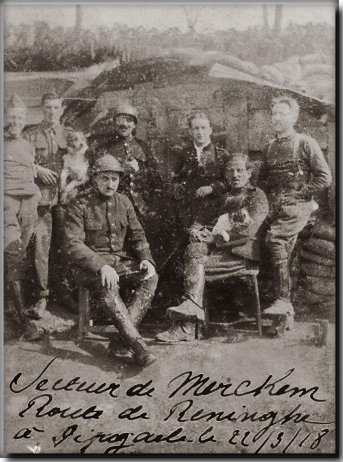 site me be fla merckem 1918 secteur occupé par les belges