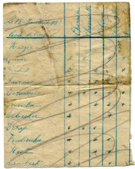 site me be  liste de linge 18 juil 1918