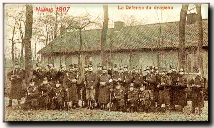 site me be nam namur 1907 la défense du drapeau