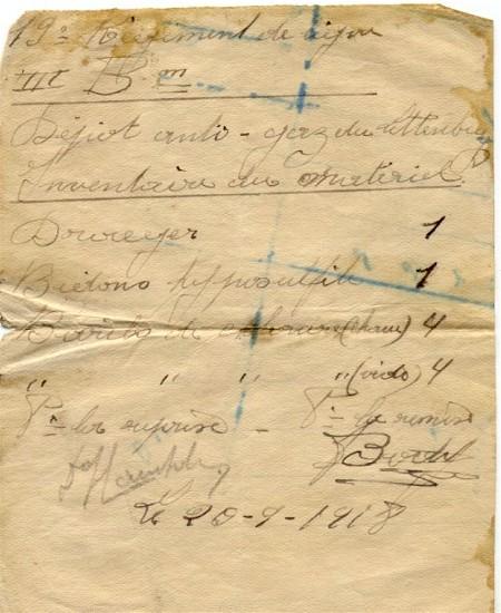 site me be remise reprise du 20 sept 1918
