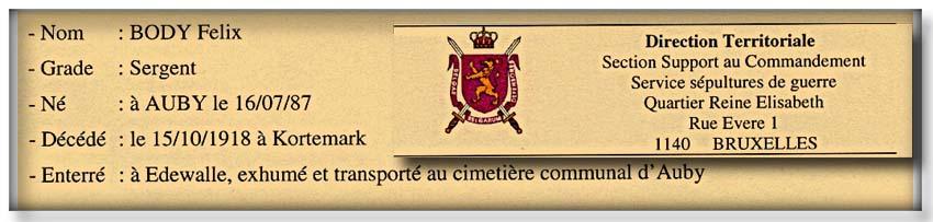 site so be auby extrait de lettre ministère des armées