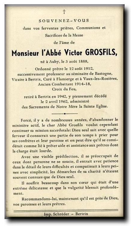 site so be grosfils victor abbé né à auby 1888