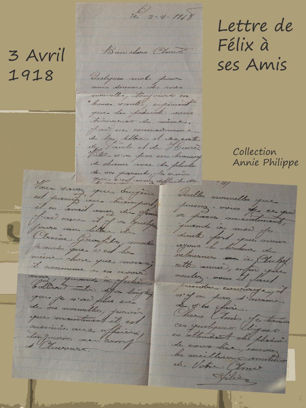 site to be 1918 04 03 lettre de félix à ses amis page 2