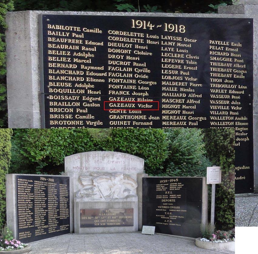 Ribemont02 départem Aisne le monument &plaque