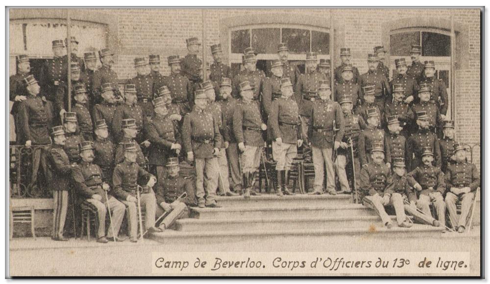 site me be 13ème ligne officiers 1908