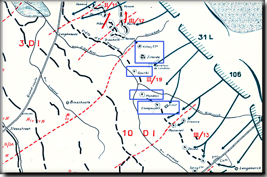 site so be MERCKEM 17 AVRIL 1918 PLAN