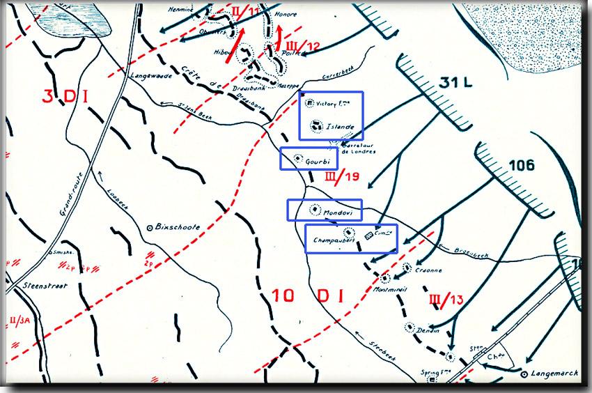 site so be MERCKEM 17 AVRIL 1918 PLAN