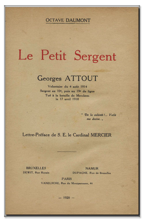 so be georges Attout 19ieme de ligne