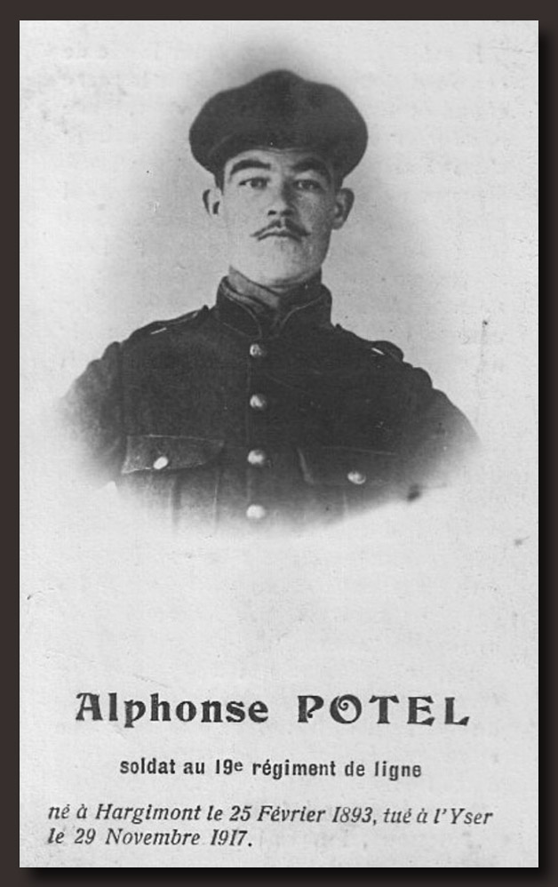 site to be potel alphons 19è ligne hargimont 1917