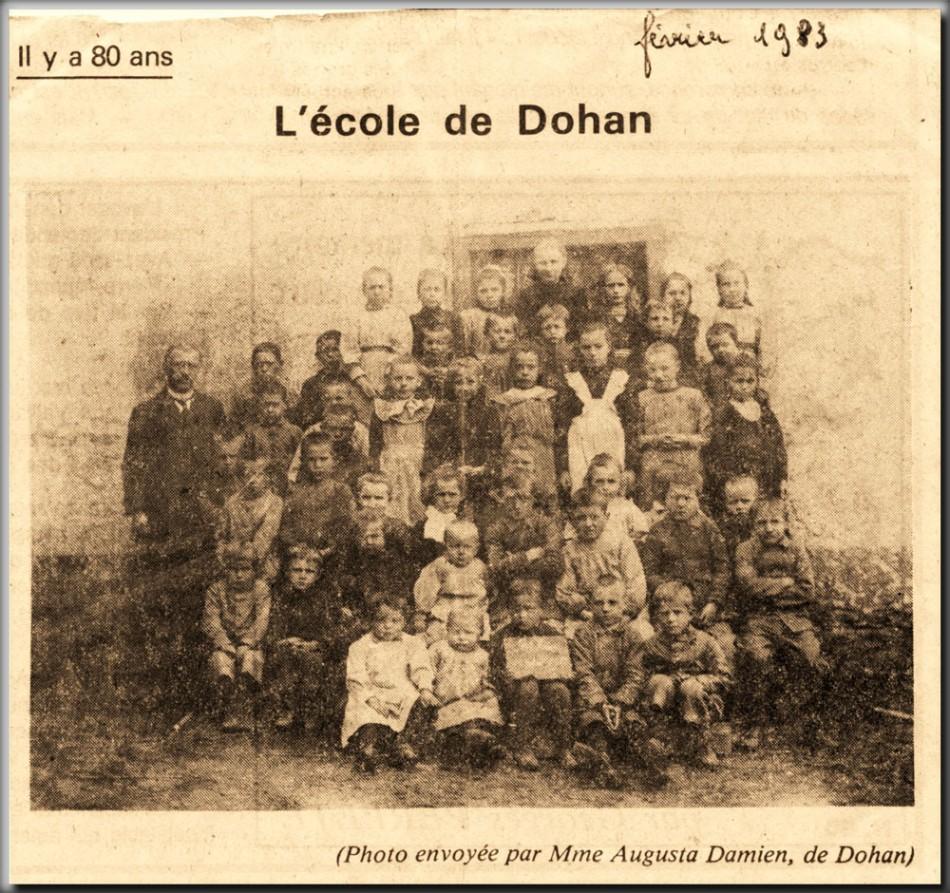 site me be ecole de dohan vers 1910