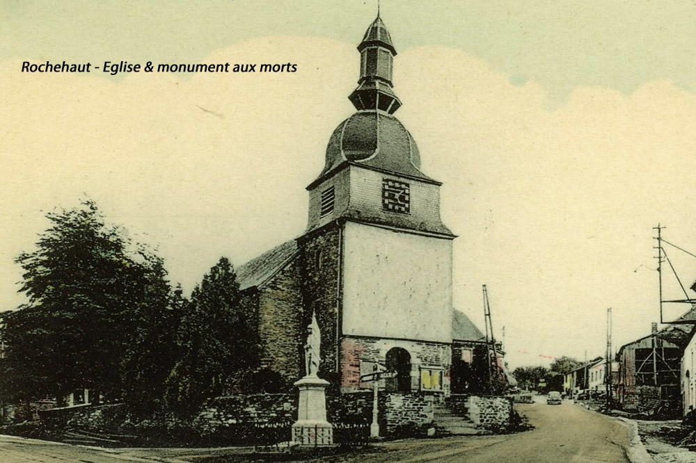 rochehaut belle vue de l'église color ttb