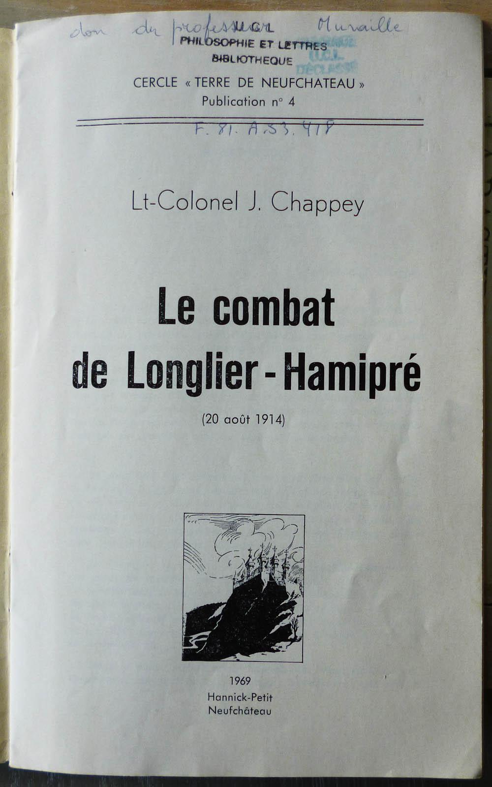 site me be le combat de Longlier-Hamipré de Chappey