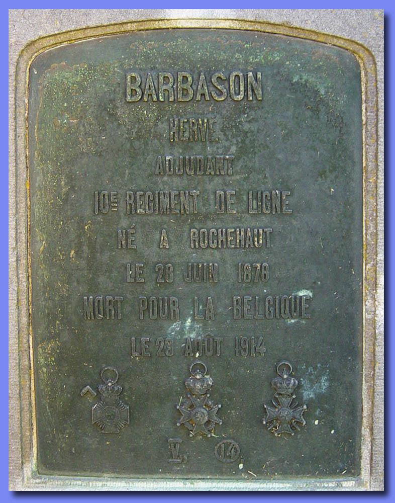site me be lux adjudant barbason rochehaut sépulture