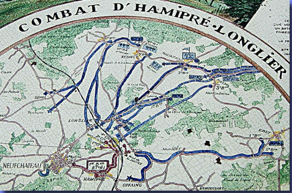 site me be plan d'opérations de la bataille d'hamipré du 87è RI