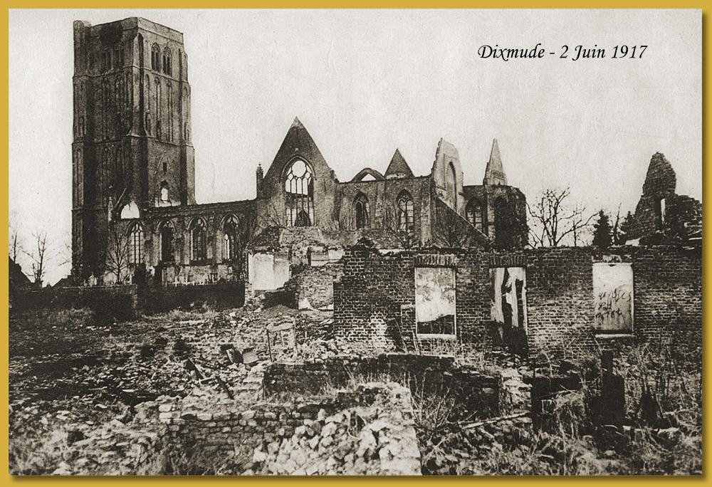 site me 1917 02 juin dixmude église en ruine copie
