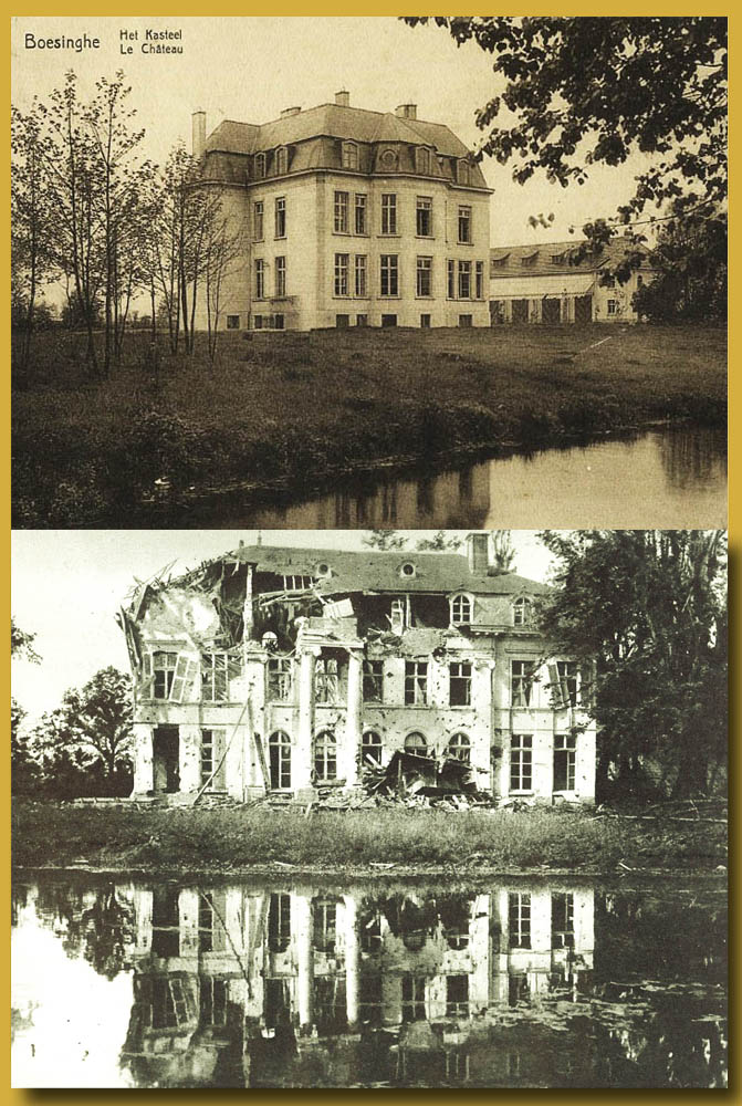 site me be  Château de Boesinghe près de Ypres  photo de Juillet 1915