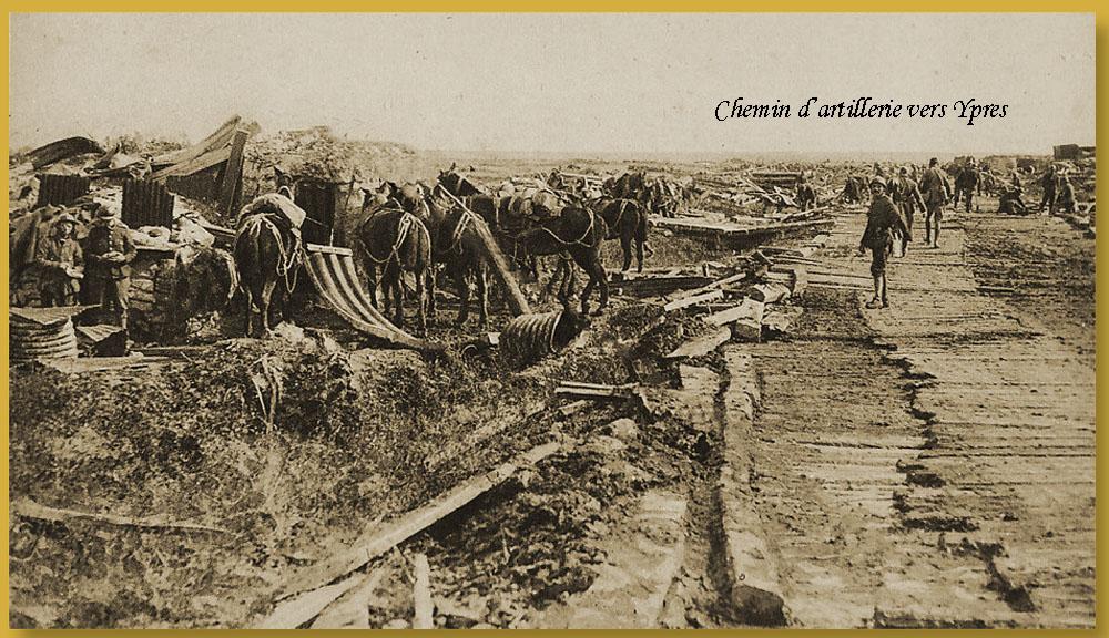 site me be chemin d'artillerie ypres