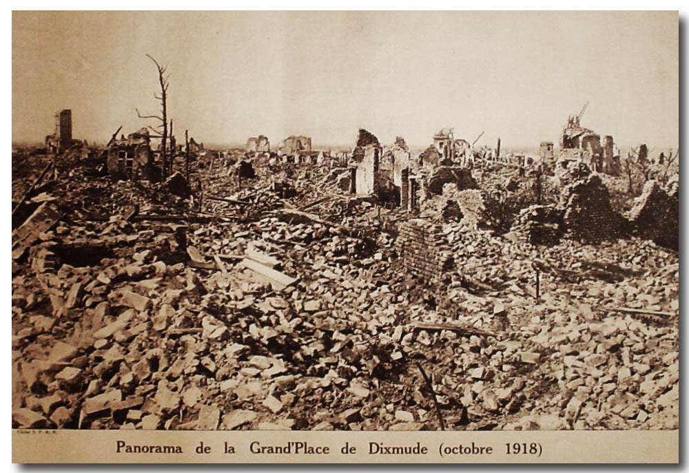 site me be dixmude panorama de la grand place oct 1918 copie