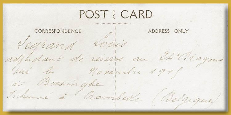site me fr legrand louis 1915 boesinghe sépult à Krombeke recto copie