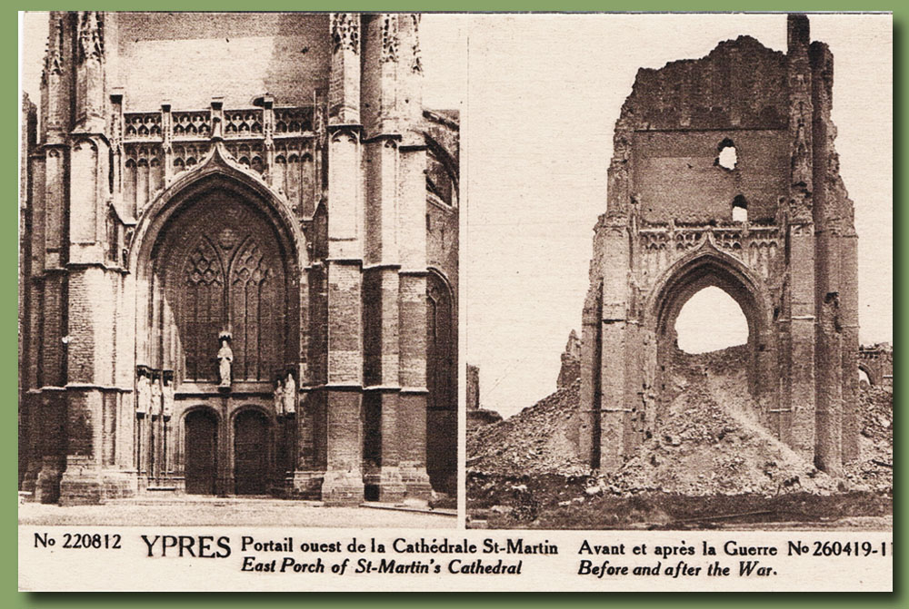 site to be fla ypres cathedr st martin portail
