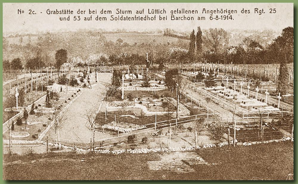 site to be lie barchon vue cimetière1916