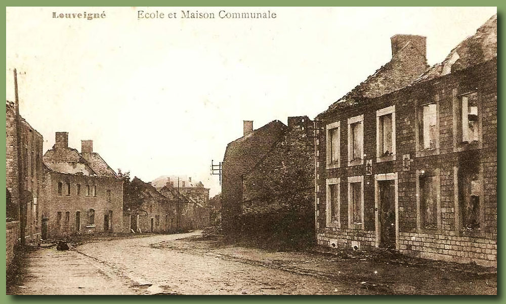 site to be lie louveigne ecole maison communale 1914