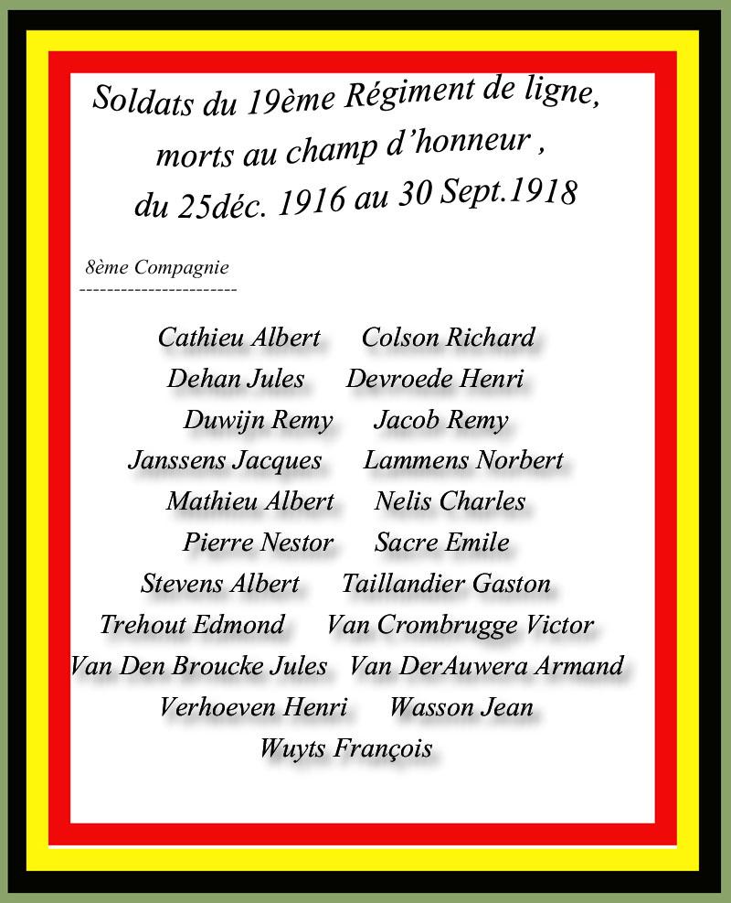 site to be 8è compagnie morts au champ d'honneur